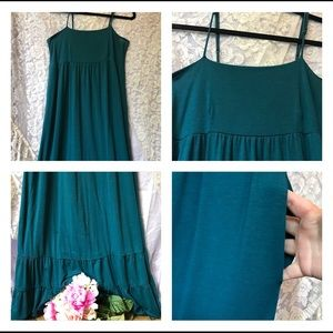 Teal Mossimo Supply Co. Maxi Dress